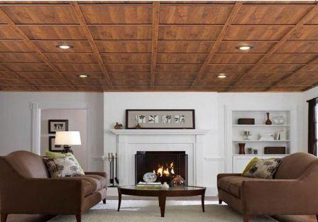 Ламинат на потолок: фото