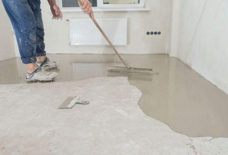 Ламинат на неровный бетонный пол