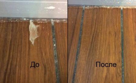 Убрать царапины на ламинате в домашних условиях