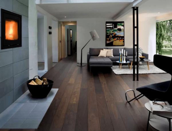 Применение тёмного ламината в интерьере комнат