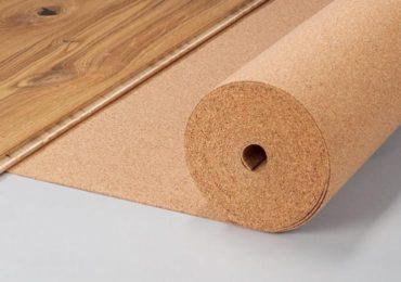 Пример пробковой подложки под ламинат
